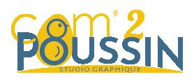 Logo Com2poussin, studio graphique
